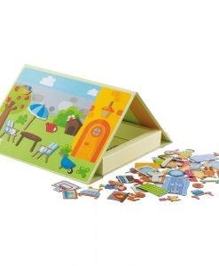 Wooden Magnetic Home - 57 pcs