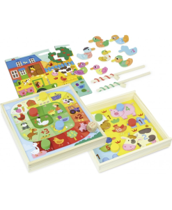 Set of 4 Board Games for the Little Ones