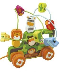 Wooden Safari Maze with wheels