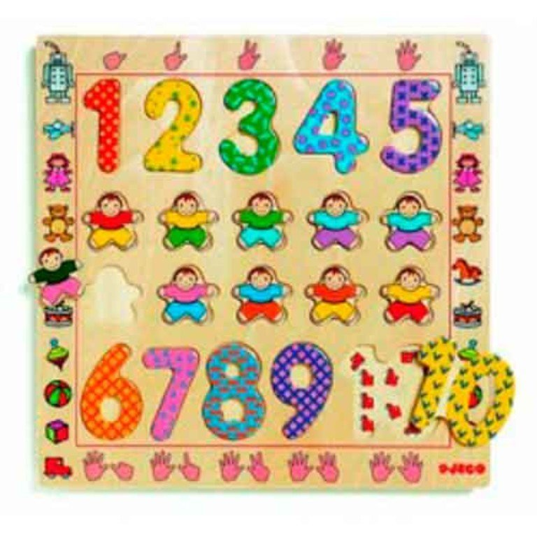 1 - 10 Puzzle by Djeco