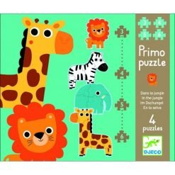 In the Jungle - 3,4,5,6 pcs Giant Puzzle