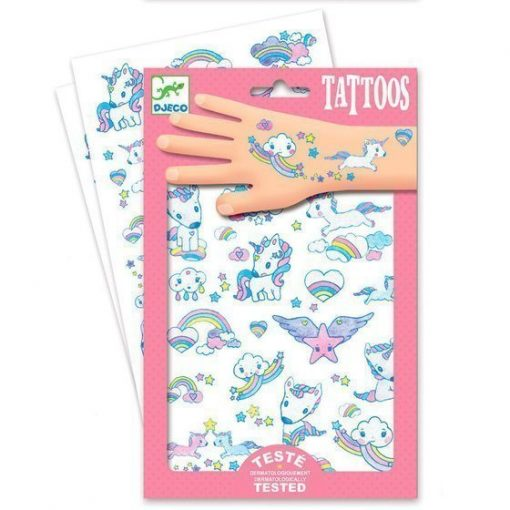 Unicorns Glitter Tattoos by Djeco