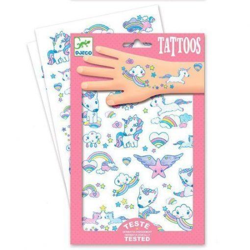 Unicorns Glitter Tattoos by Djeco