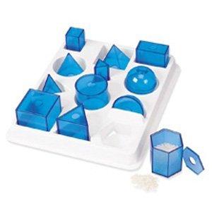 12 Translucent Plastic Geometric Solids