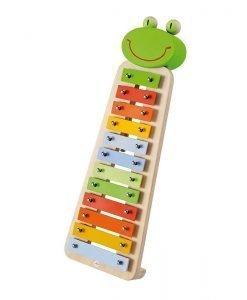 Wooden Metallic Xylophone Frog