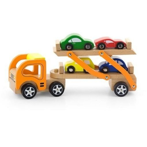 Wooden Transport Carrier 2-Decks with 4 Cars