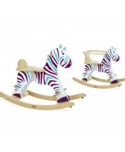 Rocking Zebra with Removable Hoop