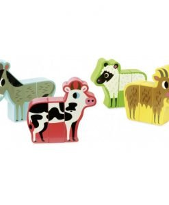Wooden Magnetic Farm Animals Set