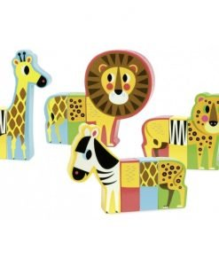 Wooden Magnetic Zoo Animals Set