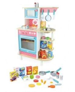 Complete Wooden Kitchen with 24 Accessories