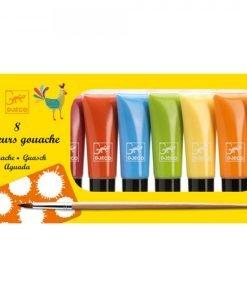 8 tubes of gouache paints - Pastel Colors
