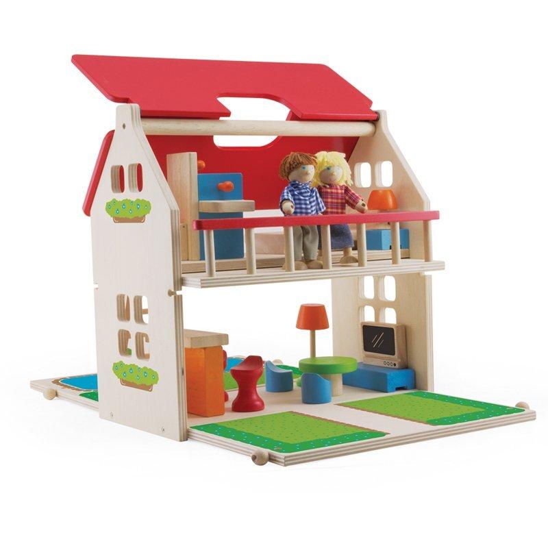 Portable Dollhouse Complete Set Brainkid Toys