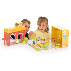 Wooden Musical Play Case Farm