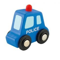 Wooden Mini Police car