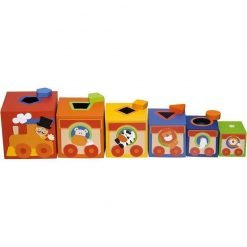 Wooden Stacking Cubes Circus