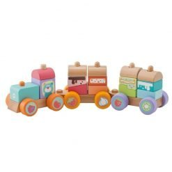 Wooden Stacking Sweets Train