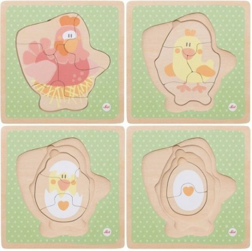 Wooden Puzzle 4in1 Hen