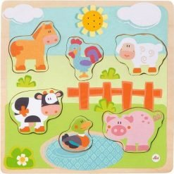Wooden Puzzle Farm with sounds