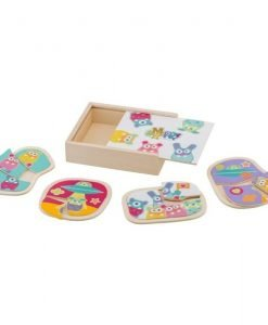 Wooden MRZ Box 4 Puzzles