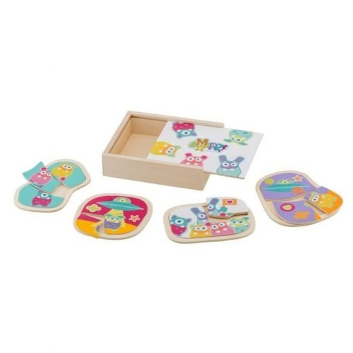 Wooden MRZ Box 4 Puzzles