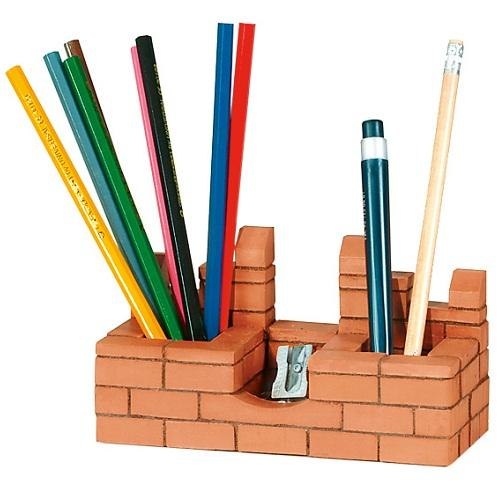 Brick Construction Castle The Pencil Case