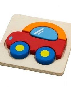 Wooden Puzzle Car
