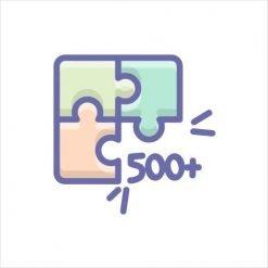 500+ pieces