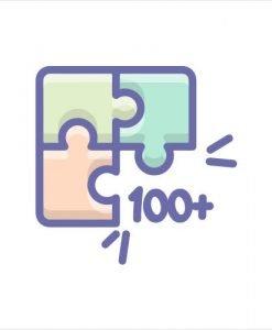100+ Pieces